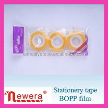 Transparent Opp Stationery Tape with Package for retail shops
