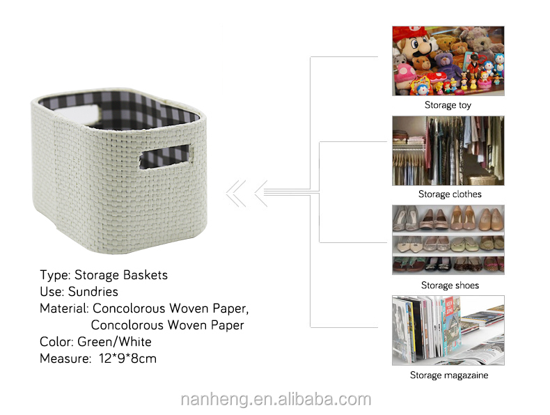 NAHAM small design woven storage basket with handle