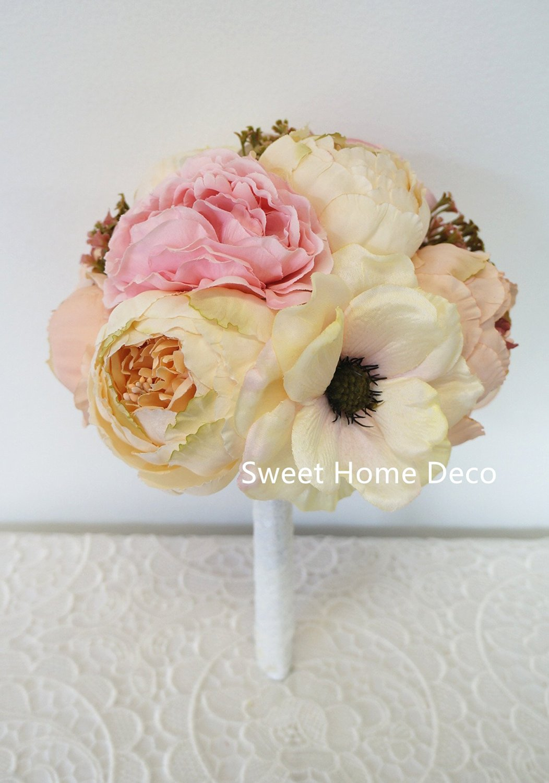 Buy sweet home deco silk peony hydrangea anemone flower wedding sweet home deco silk peony hydrangea anemone flower wedding bridal bouquet bridesmaid bouquet boutonniere 9 izmirmasajfo