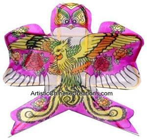 Chinese Folk Art / Chinese Crafts / Chinese Cultural Products: Mini Chinese Kite - Phoenix