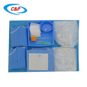 Sterile Disposable Surgical Cardiovascular Angiography Drape Pack With 2 Femoral&2Radial Holes
