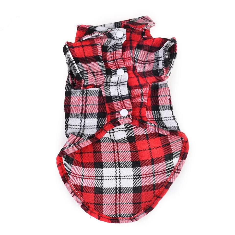<strong>Pet</strong> Fashion Plaid Shirt Dog Clothes Wholesale <strong>Pets</strong> And Dogs Products