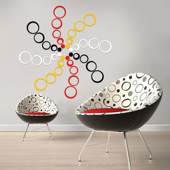 New Acrylic Circles 5 Rings 3d Wall Art Decals Home Decor Stickers ...