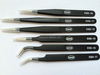 ESD-11 High Quality ESD Black Stainless Steel Tweezers