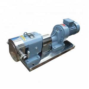 stainless steel chocolate rotary lobe gear pump sanitary rotary lobe pump
