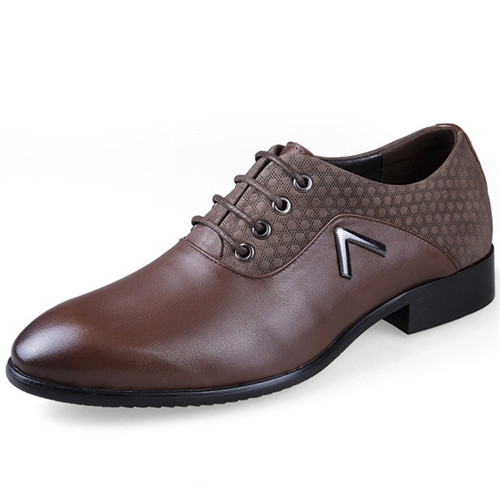2015 New Mens Oxfords Shoes Genuine Leather Pointed Toe Man Dress Shoes Formal Oxfords Men Shoes Zapatos Hombre Black Size 38-47