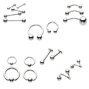Wholesale Surgical Steel Body Jewelry Piercing Eyebrow Navel Belly Tongue Lip Bar Ring