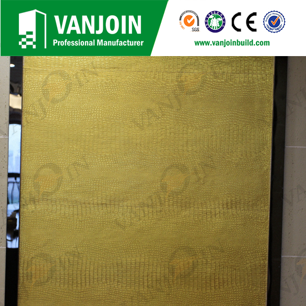 Fireproof Wall Panel Leather Appearance Flexible Tile