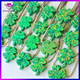 Clover shape Double Cabochon Beads Names Green Gemstones Beads Gemstones Hong Kong Wholesale