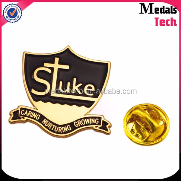 Epoxy coated metal cheap custom offset printed lapel pins