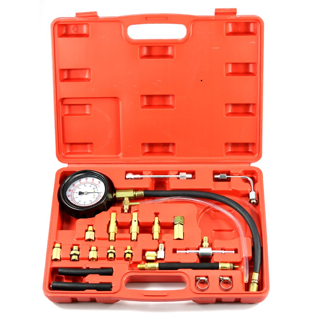 Missyee 0-140 PSI Fuel Injection Pump Injector Tester Test Pressure Gauge Gasoline Cars (Injector Tester)