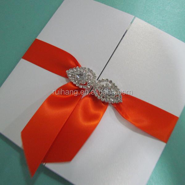 Big Size Gate Fold Pocketfold Paper Wedding Invitation Cards Buckle