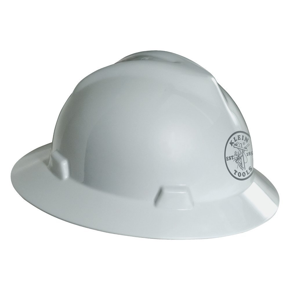 Klein Tools 60031 V-Gard Hard Hat with Klein Lineman Logo, White