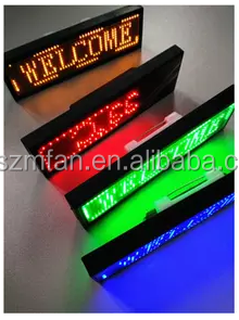 Digital led small screen chest card badge /P2 electronic mini name tag led display /single color display mini small name badge