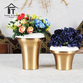 China Home Decor Wholesale Metal Vase For Flowers Antique Home