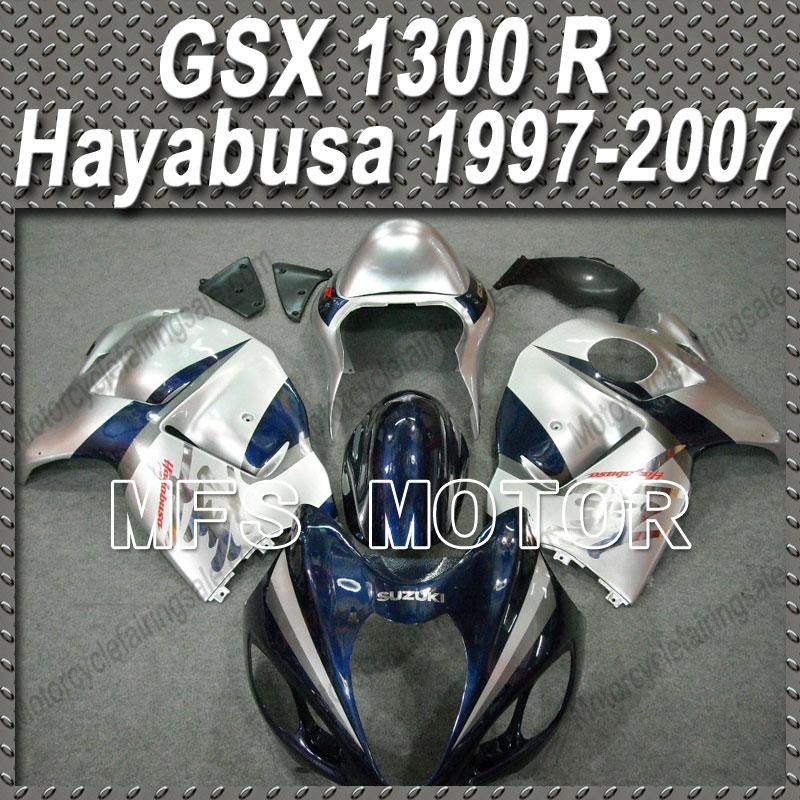 Для Suzuki GSXR 1300 Hayabusa 1997 - 2007 98 99 ABS зализа GSX 1300R 01 - 06 03 04 05 - другие - синий / серебро