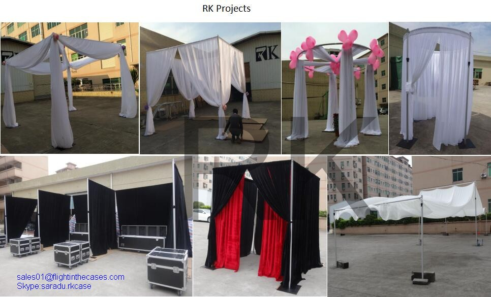 circle pipe and drape frame rk wedding pipes