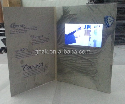 7 inch touch screen video greeting card / business gifts
