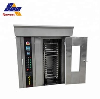 Stainless steel commercial bakery 32 trays diesel oil/gas rotary rack oven