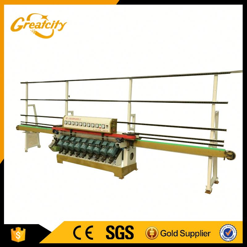45 degree glass double edge grinding machine/ glass double edger