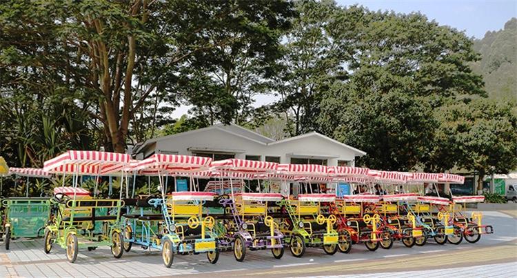 चार पहिया 2 लोगों मज़ा सवारी पेडल शहर Renting पार्क/सरे बाइक/बहु सीटों सरे बाइक 4 पहिया गाड़ियां