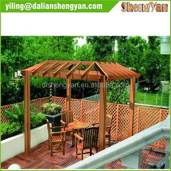 Cheap Chinese Modern Garden Outdoor Wood Pergola