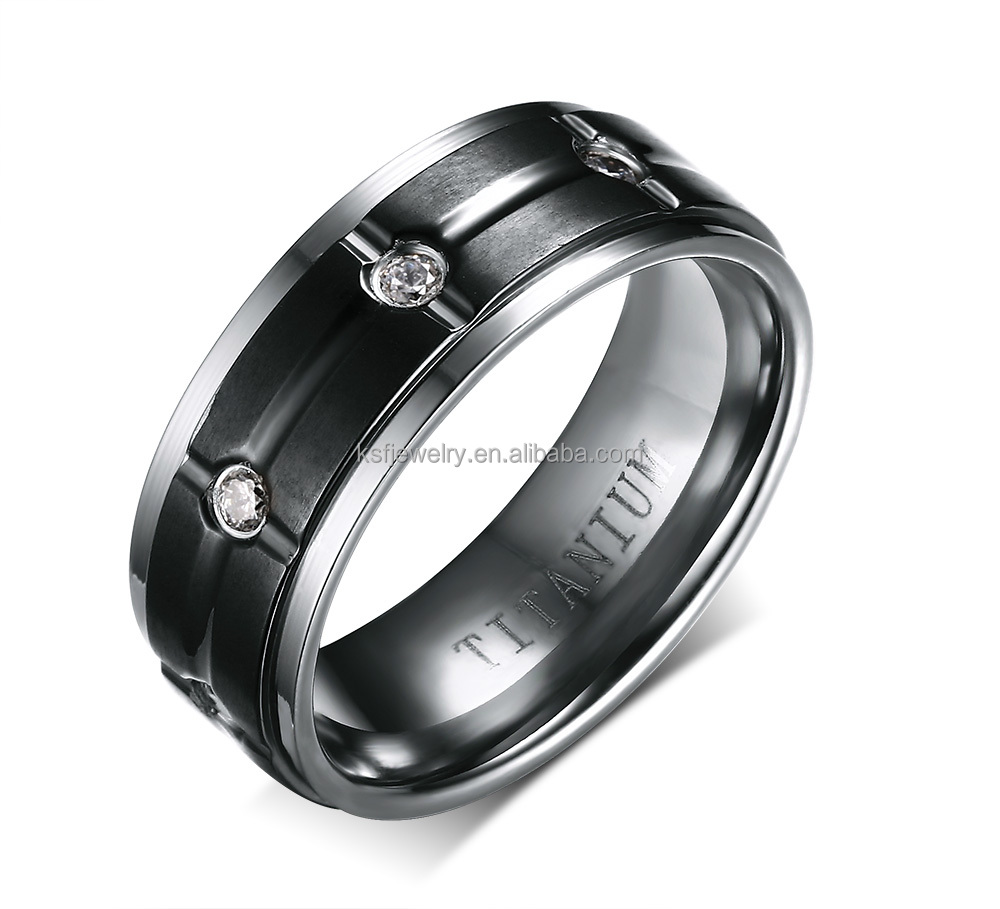 wedding shop sterling silver plated rings eternity ladies band rhodium black ring magnetic