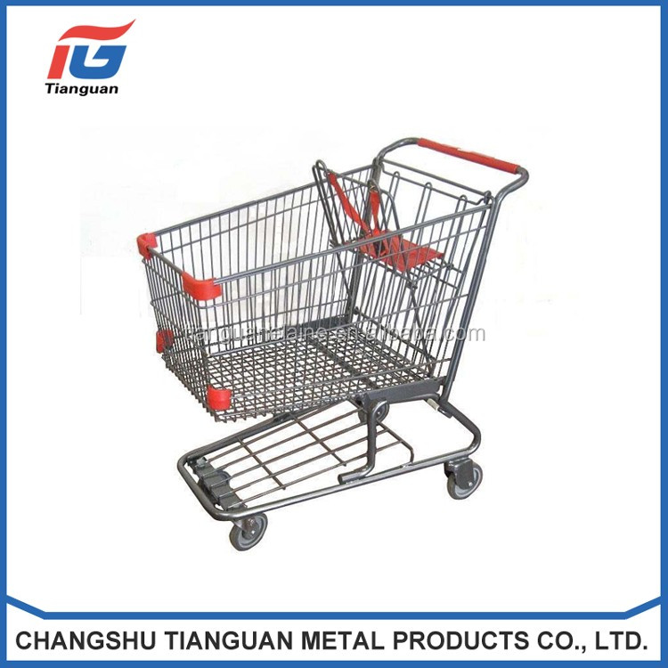 Strong rolling market shopping trolley