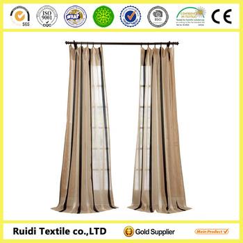 moderne platte solide pure voile gordijn kant en klare lussen pure voile panel goedkope gordijnen