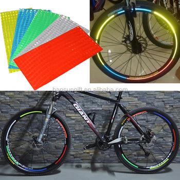 Fluorescent mtb bike bicycle wheel rim stickers reflective decal sticker