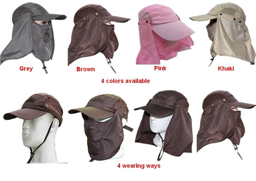 f51c89b0c0f Removable Flap Cap Sun Shield and Mask Perfect for Fishing Hiking Garden  Work Outdoor Activities