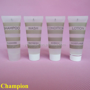 hotel bathroom empty cosmetic cream tube