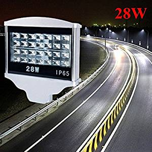 28W LED Waterproof Street Light IP65 AC85-265V Outdoor Park Road Lamp (Color White)