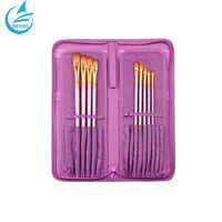 Purple Soft Packing Package Paint Brush Set Best Paint Artist Brush Storage