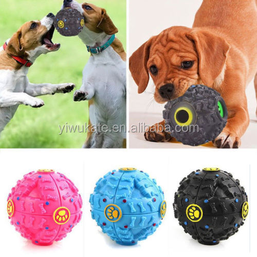 Interactive Dog Toys Pet Feeder Chew Ball Treat Food Dispenser Nontoxic Themoplastic Rubber KA1561