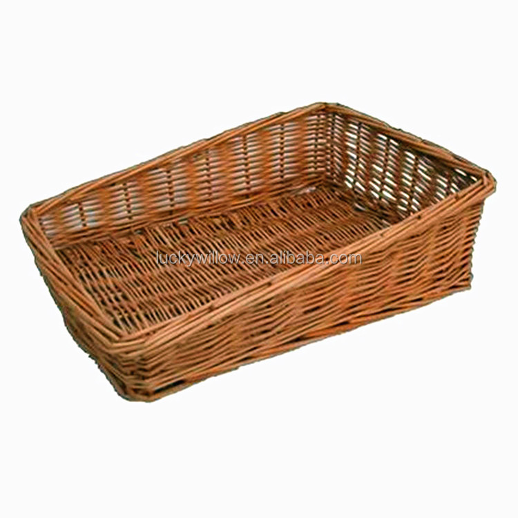 Whole Handmade High Quality Wicker Decorative Vegetable Basket Drawing