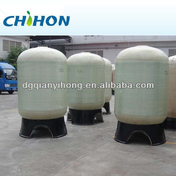 25 TPH waterstroom FRP watertank & vezeldruk plastic versterkte watertank / fiberglas filtratie of waterontharder systeemtanks