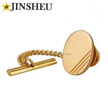 40a37ee66dce Custom Made Gold Plated Tie Tack Pin With Chain - Buy Tie Pin With ...