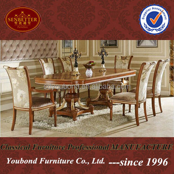 0062 European Classic Dining Room Table Design Oval Wooden Dining Table And  Chairs