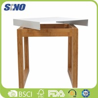Eco-friendly Bamboo Chinese Antique End Table For Sale