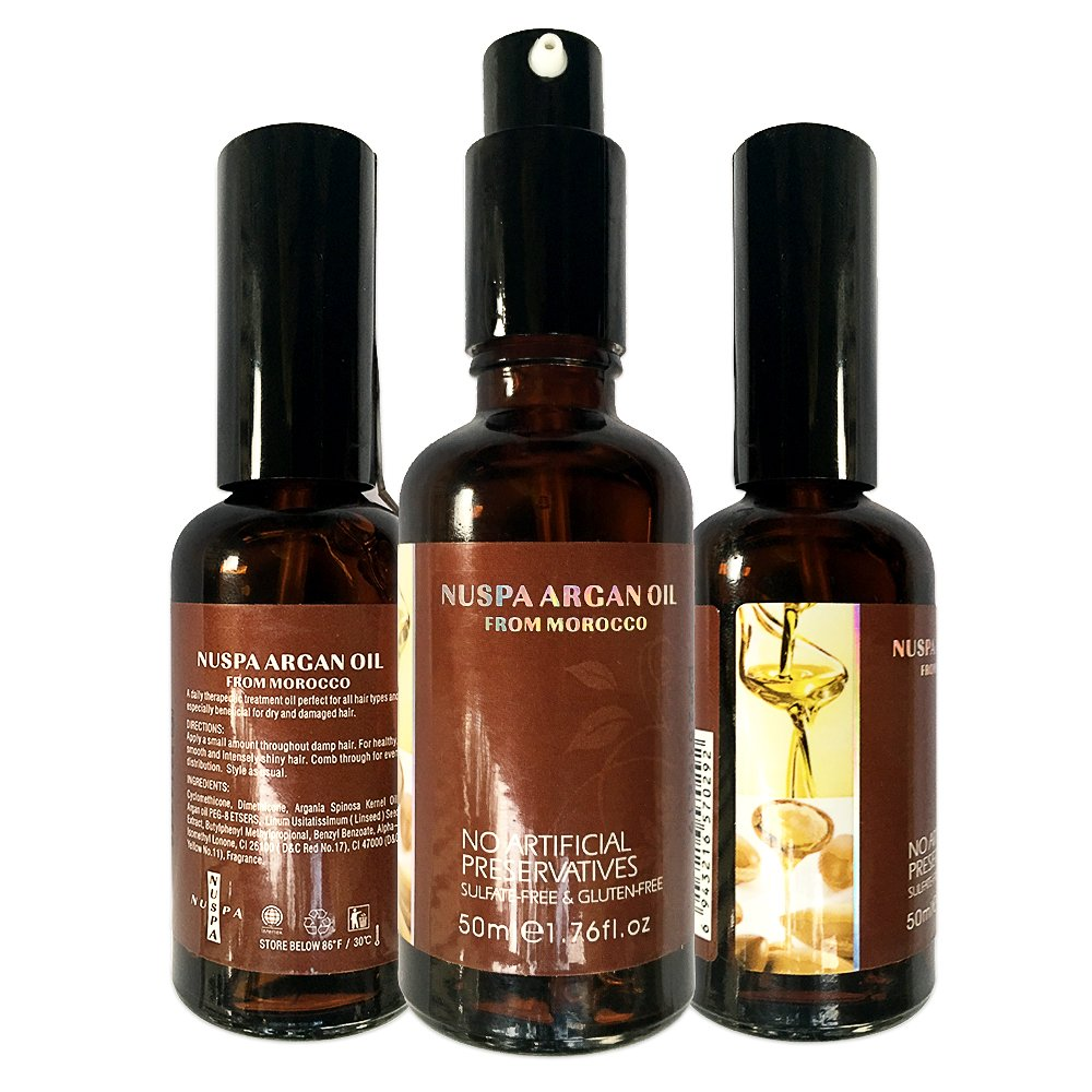 Organic Argan Oil for Hair Skin & Face – USDA Certified 100% Pure Natural Cold Pressed from the kernel of the Moroccan Argan Tree Anti Aging Anti Wrinkle Beauty Secret – 1.76 OZ
