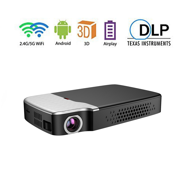 best pocket projector 3d dlp miracast battery powered mini hd projector for home