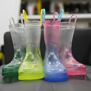 women's children waterproof pvc transparent jelly crystal shiny gold lace up clear rain boots rainboots for south africa