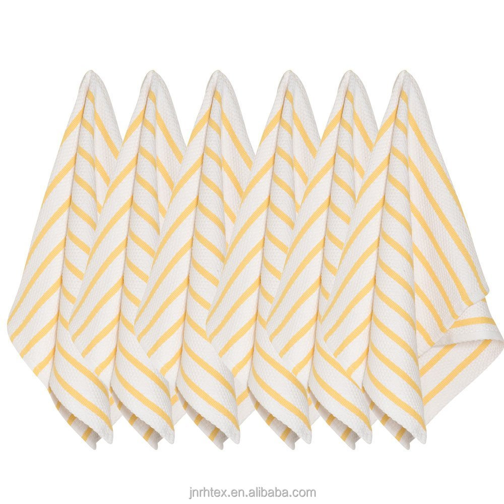 Custom microfiber stripe novelty kitchen towel