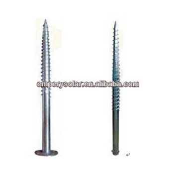 Solar PV ground mounting system ground screw/ground screw pole anchor