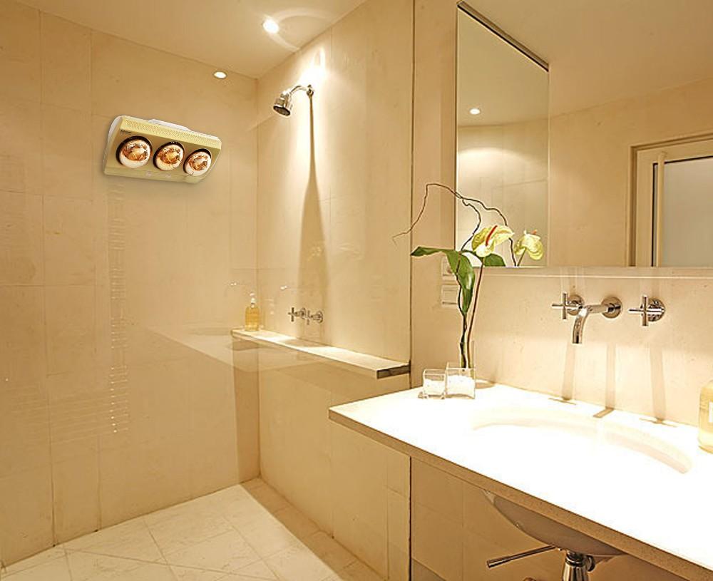 Wall Mounted Waterproof Bathroom Infrared Golden Lamp ...