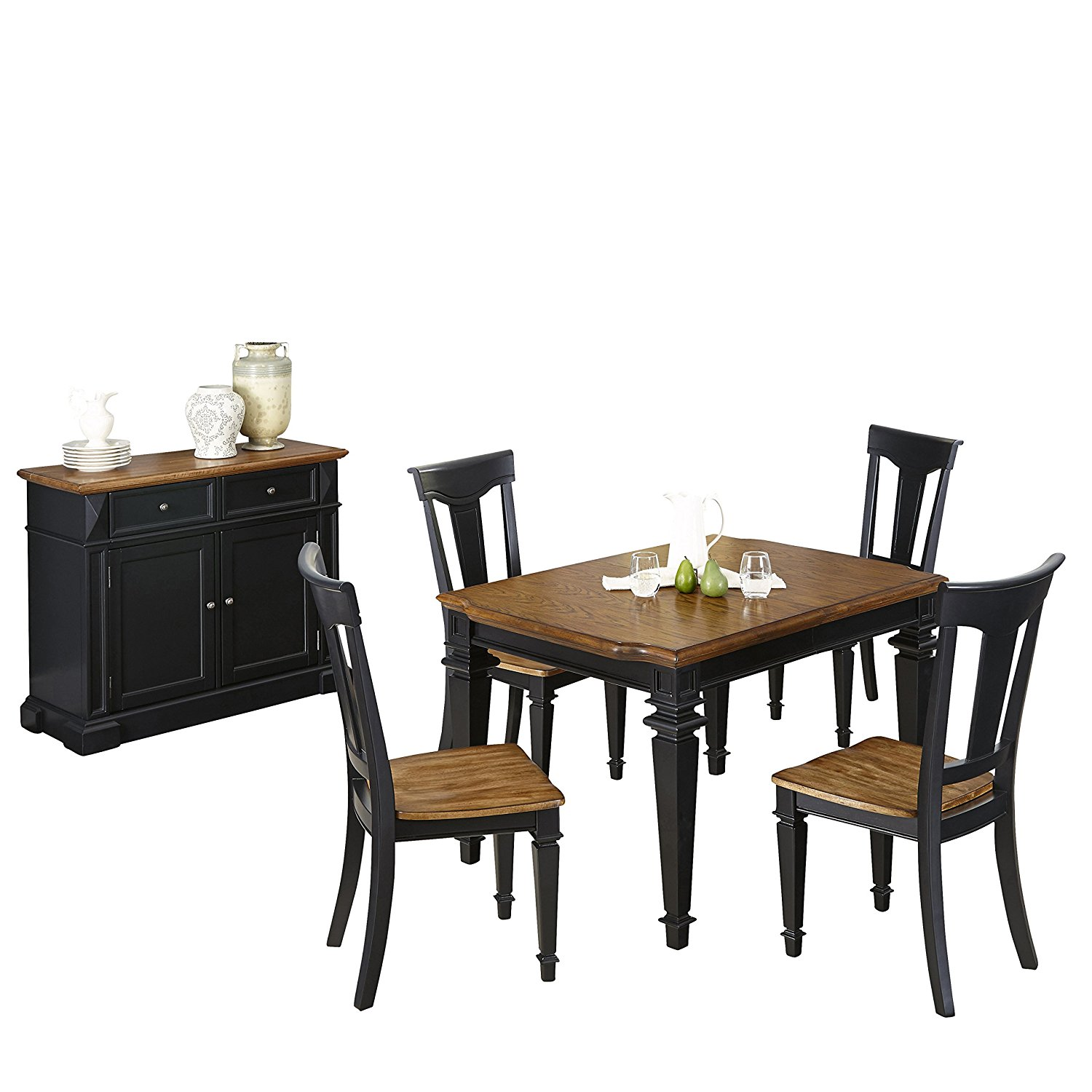 Charming Get Quotations · Home Styles 5003 3486 5 Piece Americana Dining Set With  Buffet, Black And