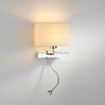 Zhongshan good price indoor decorative modern stainless steel wall lamp with led wall spot light for hotel