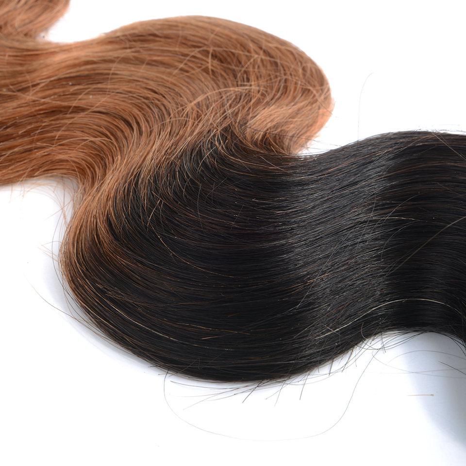 Top Quality Chocolate Human Hair Extension Chocolate Ombre Black