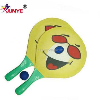 Free Sample Beach Paddle Ball Set Wooden Racket Carbon